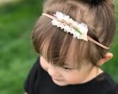 Mini floral crown headband