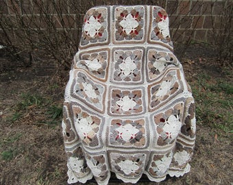 """Crocheted afghan """"Chocolate squares"""""""