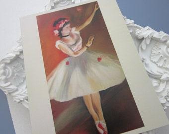 Little Dancer, Degas, printed card, blank card, large, ballerina card, birthday card, daughter card, goddaughter card,  ballet card, dancer