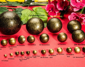 Retro Bronze Nails - Vintage Round Head Finish Upholstery Iron Décor Safa Tacks Pin Fitment - (7mm-80mm) - n88