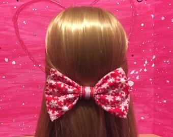 Winter Hair Bow