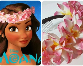 Moana Flower Headband - Hawaiian Plumeria Flower Headband