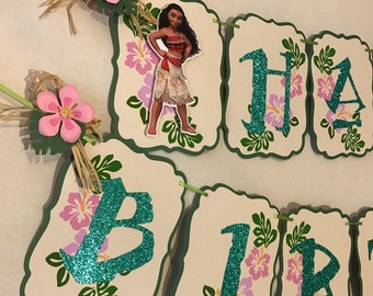 Moana Banner, Moana Party, Moana Birthday, Moana Party Wall Decoration, Moana Decorations 3D.