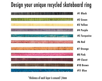 Skateboards wood etsy for Design your own wooden ring