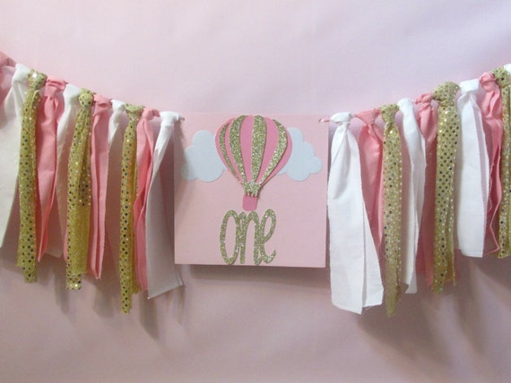 Hot Air Balloon Highchair Banner Hot Air Balloon First Photo Prop Hot Air Balloon High Chair Garland Hot Air Balloon First Birthday Decor