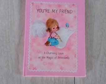 "Vintage Mini Hallmark Greeting Card Book ""You're My Friend"""