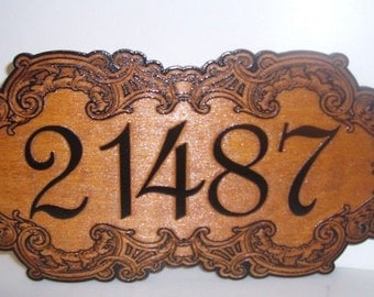 Personalized  House Address Number Wood Sign.Birch.Laser ENGRAVED.GIFT.