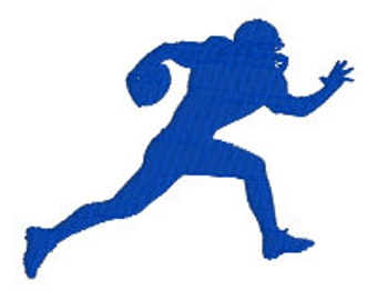 "BUY 2 GET 1 FREE - Football Player Silhouette Machine Embroidery Design - Filled - 3.5"", 4"", 5"", 7"" - Sports, Teenager, Boy, College"