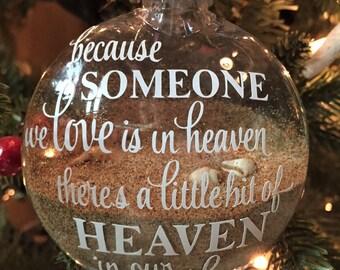 Beach Christmas Ornament, Hawaiian Christmas Ornament, Maui Christmas Ornament, Keepsake Ornament, Sand Ornament - Made in Maui