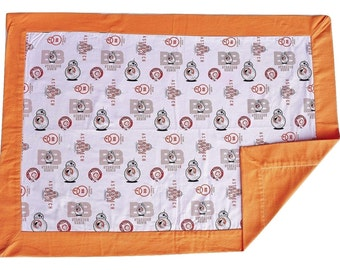 BB-8 Baby Blanket // Security Blanket // Carseat Blanket // Snuggle Blanket // Baby Blanket