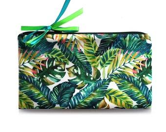 Cosmetic Bag // Tropical // travel bag - make up bag - bridesmaid clutch