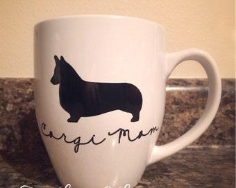 Corgi Mom 16oz Bistro Coffee Mug