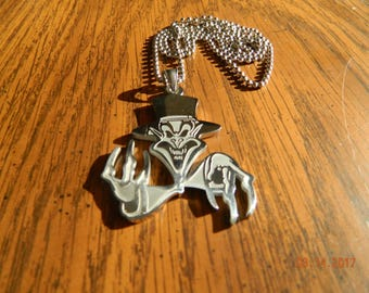 "ICP ""The Ringmaster "" Stainless Steel pendant w/30 inch ball chain"