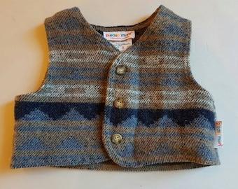 Vintage Please mum wool mix vest 6 months