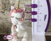 "Rainbow Unicorn 5"" Cake Topper"