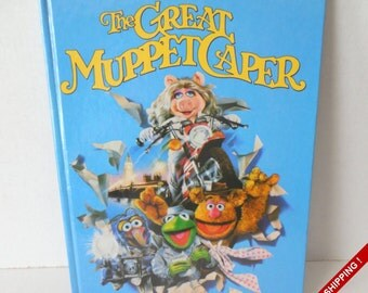 The Great Muppet Caper Storybook//Movie Book//Jim Henson//Hard Cover 1981
