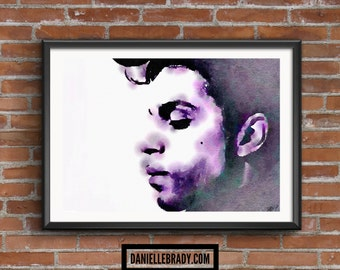 Prince Purple Digital Art Watercolour Printable Art Downloadable Print