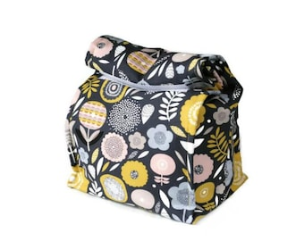 Insulated lunch bag - Flowers