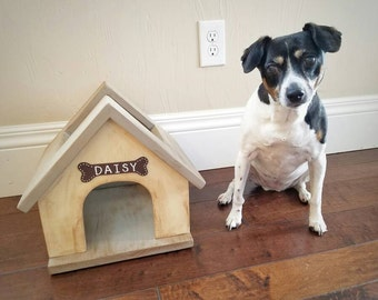Dog House Toy Box - Pet toy storage - Fur baby furniture - Dog Toys