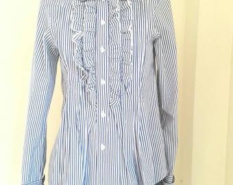 Comme Des Garçons Striped minimalist shirtSize M / Made in JAPAN