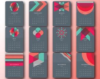 2017 Printable Calendar Cards 5x7 and 8x10