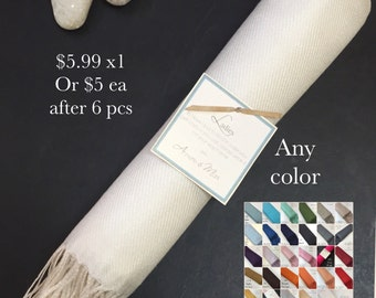 Pashminas 1 pc Handmade- Any color- Pashminas Bridesmaids -pashmina shawl - pashmina as a favor -  pashminas for weddings -  pashminas -
