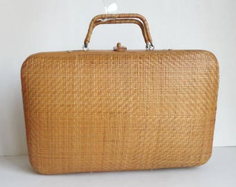 Rattan/Bamboo Handbag // Summer Bag // Suitcase