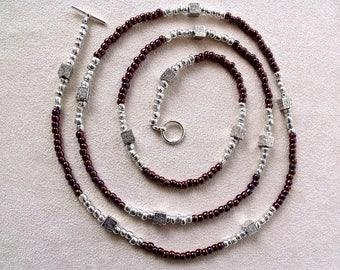 handmade seed bead multiple strand wrap bracelet, anklet or necklace
