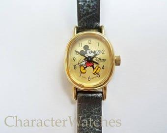 Lorus Seiko 1980's Mickey Mouse V811-0510 Ladies Quartz Watch