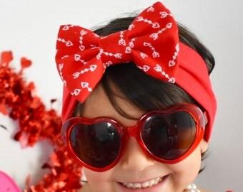 Valentines Day Bow Headband