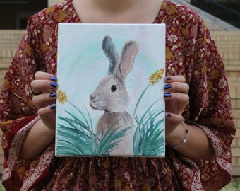 Hare Oil Painting
