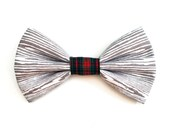 SALE! — The Woodruff Bow Tie — Dog Bowtie, Made in Brooklyn, Bowtied, Plaid, Christmas, Holiday, Winter, Present