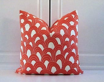 Trina Turk Decorative Pillow Cover-Orange Arches- Indoor/Outdoor- 16x16,18x18, 20x20, 22x22, 24x24