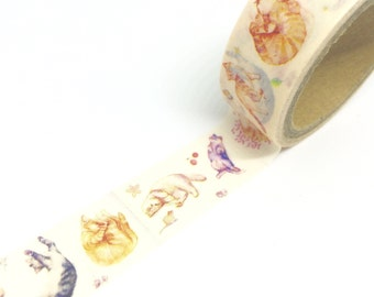 Kawaii Cats Washi Tape 15mm x 5m