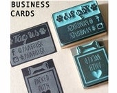 Custom hand carved business cards