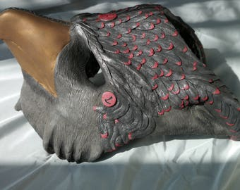 Black and Red Gryphon Mask