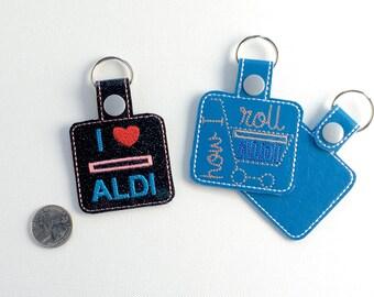 Aldi Keychain - Aldi Quarter Keeper for Keychain - Shopping Cart Quarter Holder - Grocery Store Quarter Storage - Quarter Keeper for Buggy