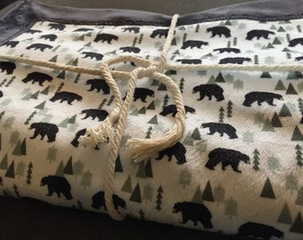 Forest Bears Cuddle Blanket
