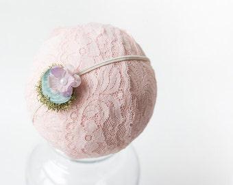 Little Headband, Newborn Floral Headband, Petite Headband, Infant Headband, Tiny Headbands, Newborn, Skinny, Preemie