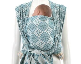Woven Baby Wrap - Daiesu Manggis Tile - Woven Wrap Baby Carrier