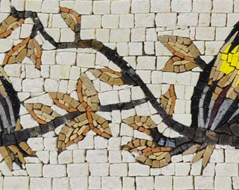 Mosaic Border Art - Songbird
