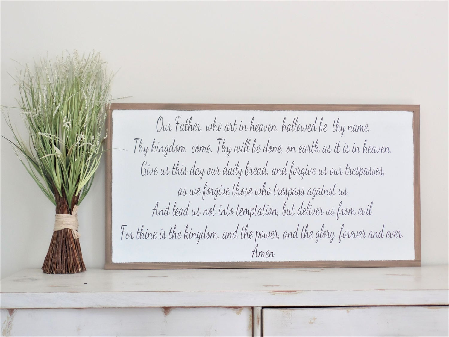 the lord u0027s prayer wood sign our father wooden sign bible