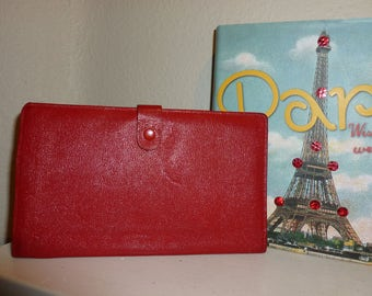 Charming Red 1950's Travel Wallet