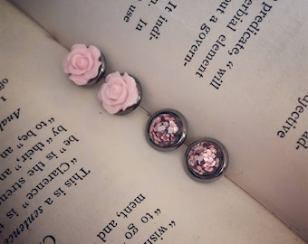 mini Pretty in Pink earring combo