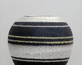 Waechtersbach Mid Century Black White & Yellow West German Vase II