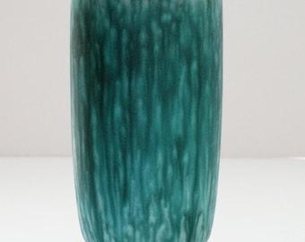 Ceramano Mid Century Aqua Fat Lava West German Vase