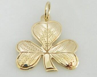 Vintage 9K Gold Authentic Irish Shamrock Pendant