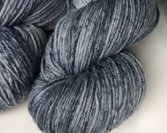 New edition Grey matter Hand dyed sock yarn 4ply finger weight superwash BFL and bamboo 100g. BFL is a British breed.