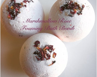 Marshmallow Rose Foaming Bath Bomb