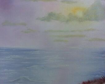 Ocean Sunset - Oil on Canvas